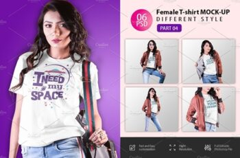 Female t-shirt Mockup-V-2-007 4180828 5