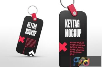 Rectangle Key Tag Mockups RMW7FV5 3