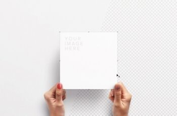 Hands Holding Square Paper Mockup 292406076 3