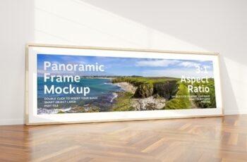 Horizontal Frame Mockup Leaning on Wall 293877175 5