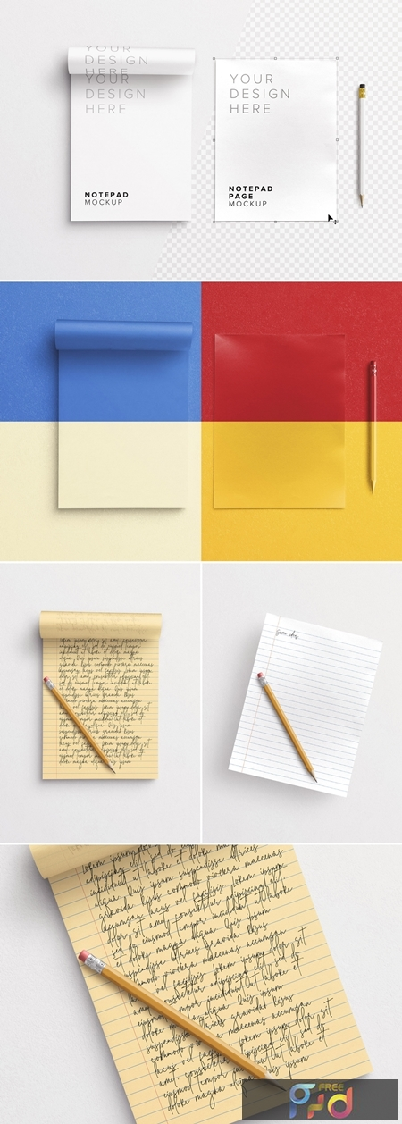 Notepad with Pencil Mockup 292406196 1