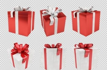 Winter Holiday Present Icon Set 293876428 1