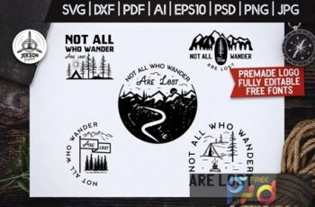 Mountain Camp Logos, Retro Wanderlust Badges Shirt ECY7C4J 5