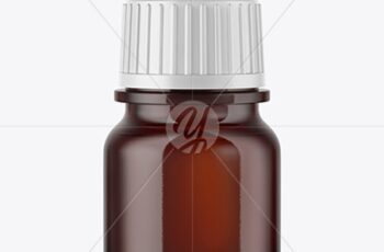 5ml Amber Glass Dropper Bottle Mockup 50403 3