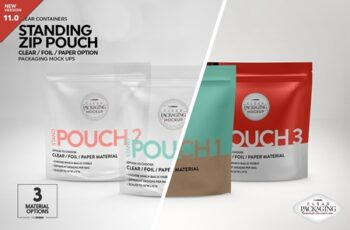 Clear Foil Paper Stand Pouch Mockup 4153739 8