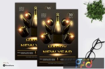 Happy New Year Flyer Template 3EQPWGU 7