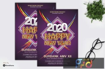 New Year Event Party Flyer Template QKGRTZ3 5