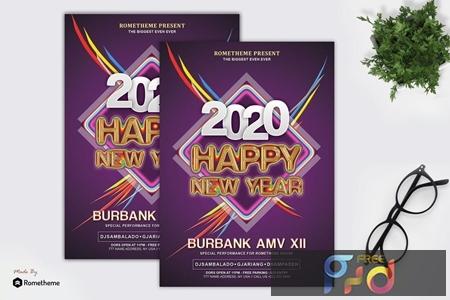 New Year Event Party Flyer Template Qkgrtz3 Freepsdvn