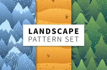 Landscape pattern set 1372739 5