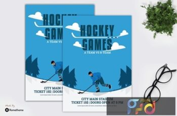 Hockey Games - Flyer Template N4Z9VYD 2