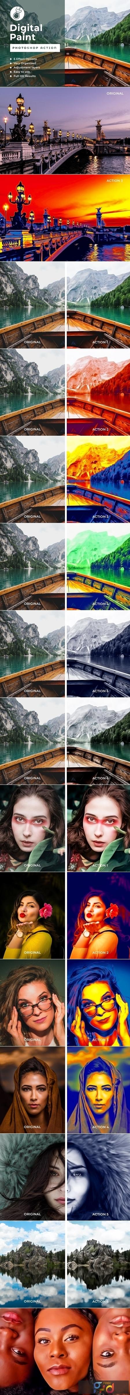 Digital Paint PhotoshopAction 4107718 1