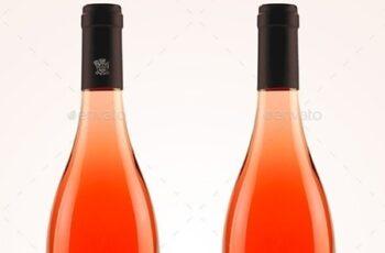 Premium Rosé Wine Mockup 7141676
