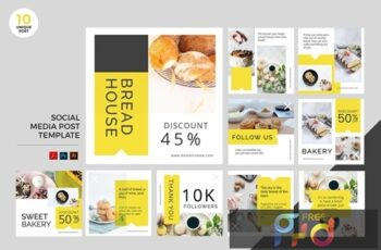 Bakery Social Media Kit PSD & AI Template BZWX4CG 4
