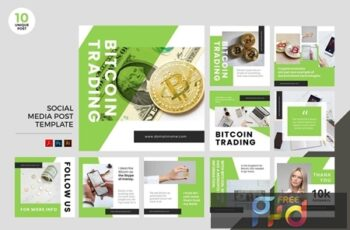Bitcoin Trading Social Media Kit PSD & AI WZRNWT9 6