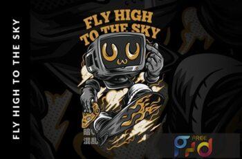 Fly High to the Sky T-Shirt Design 7Q7QDRL 6