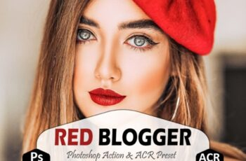 Red Blogger Photoshop Actions and ACR 1909520 5