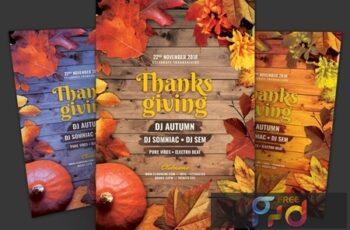 Thanksgiving Flyer X5DFK92 6