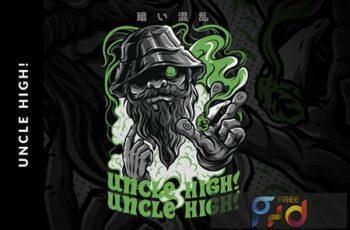 Uncle High! T-Shirt Design LGFCB97 4