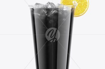 Charcoal Drink Plastic Cup with Lemon Mockup 50484 8