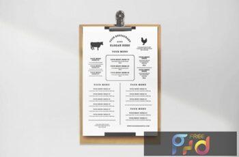 Minimalist Restaurant Menu 5Z63PXT 10