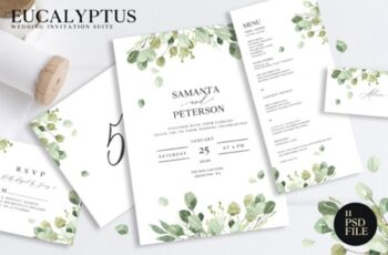 Wedding Eucalyptus Watercolor Suite 1910141 6