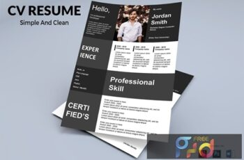 CV Resume Simple And Clean TNSE88S 4