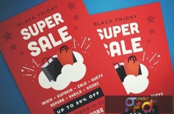 Black Friday Super Sale Flyer W6FV8T2 2