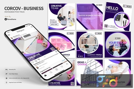 Corcov - Business Instagram Post Pack J72A3PM 1