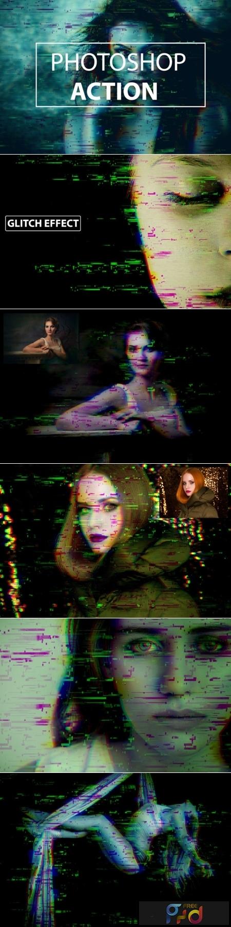 Glitch Distruction- Photoshop Action 1949294 1