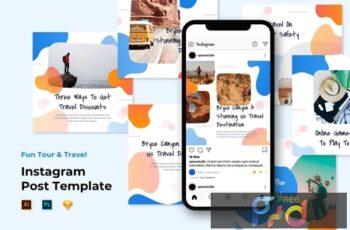 Instagram Post Templates - Travel Liquid Design X47NFBW 4