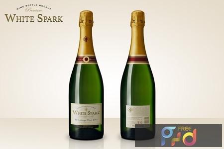 Premium Champagne Bottle Mockup EBC3P6Y 1