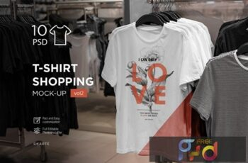 T-Shirt Shopping Mock-Up Vol.2 P24DDSP 4