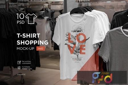 T-Shirt Shopping Mock-Up Vol.2 P24DDSP 1