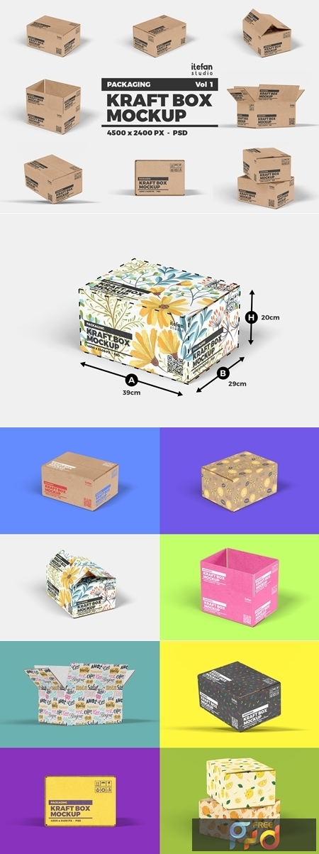 Kraft Box Mockup - Packaging Vol 1 4155859 1