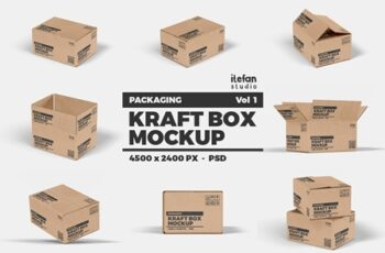 Kraft Box Mockup - Packaging Vol 1 4155859 16