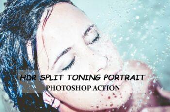 HDR Split Toning Portrait - PS Action 1949182 6