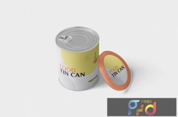 Food Tin Can Mockup Medium Size - Round 256LZJW 6