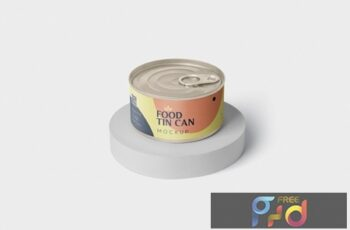 Food Tin Can Mockup Small Size - Round QH3STPV 3