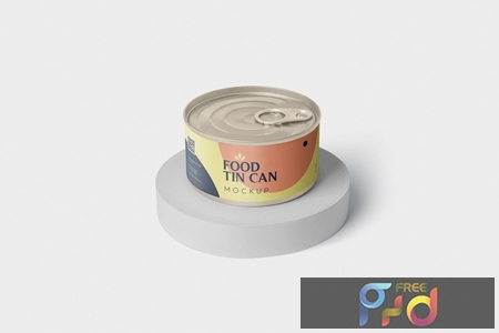 Food Tin Can Mockup Small Size - Round QH3STPV 1