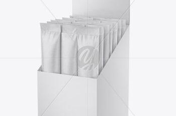 Opened Textured Box w 20 Kraft Sachets 50599 3