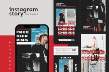 Instagram Story Template - Tavel Brush Design 37VEURL 9