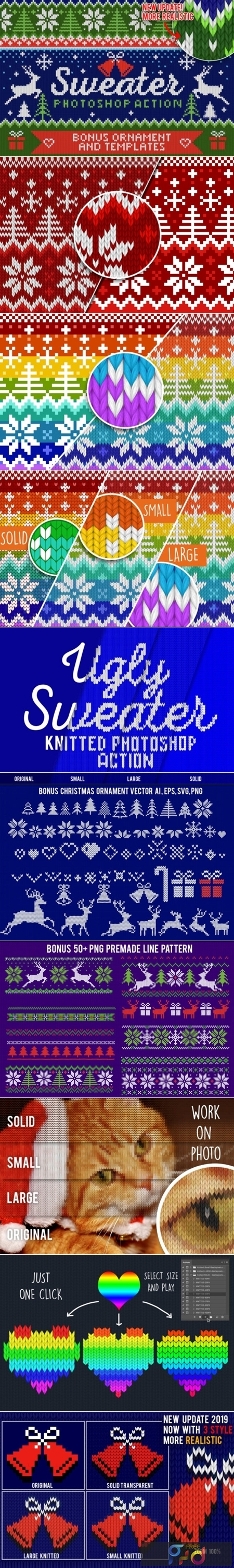 Knitted Effect Ugly Christmas Sweater 1949306 1