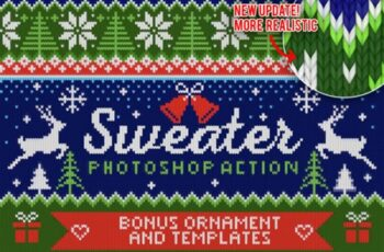 Knitted Effect Ugly Christmas Sweater 1949306 6