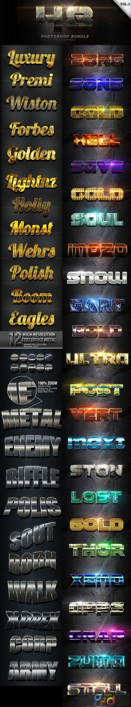 48 Text Effect Bundle Vol 3 24687013 1