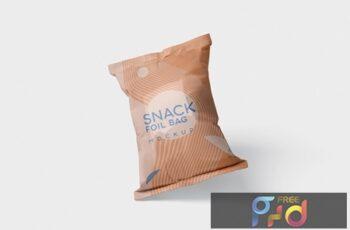 Snack Foil Bag Mockup - Plastic LTPD529 6