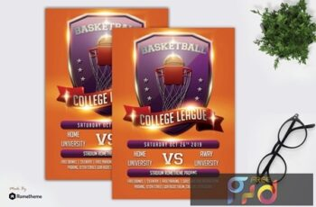 Basketball Flyer Template vol.03 ZHDANZF 4