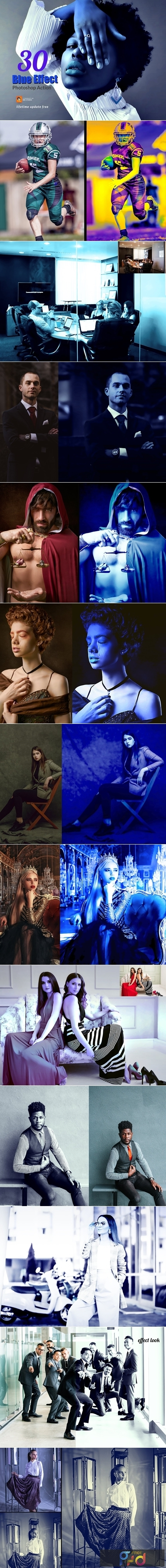 30 Blue Effect Photoshop Action 3747230 1