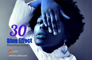30 Blue Effect Photoshop Action 3747230 4