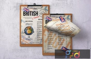 British Cuisine Single Page Menu 5HRA57F 6