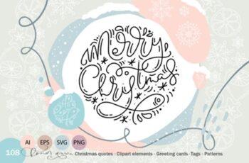 Christmas Monoline Collection 1916243 4